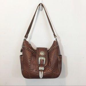 American West | Hand Tooled Leather Shoulder Bag